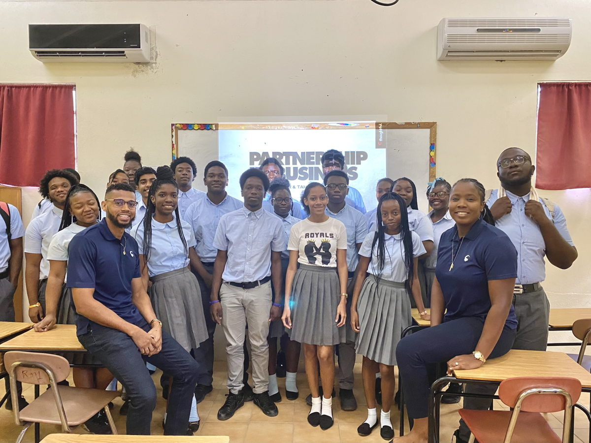 Tahirah and Gino hold Entrepreneurship Workshop with 6th form students (2020)