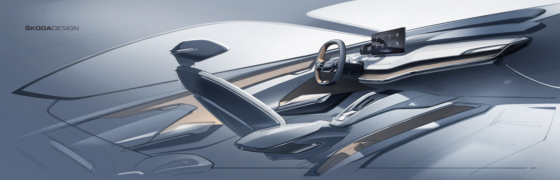 Exclusive insight: Concept study ŠKODA VISION iV features new, innovative interior concept