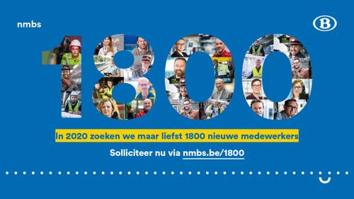 NMBS gaat 'Challenge 1800' aan!