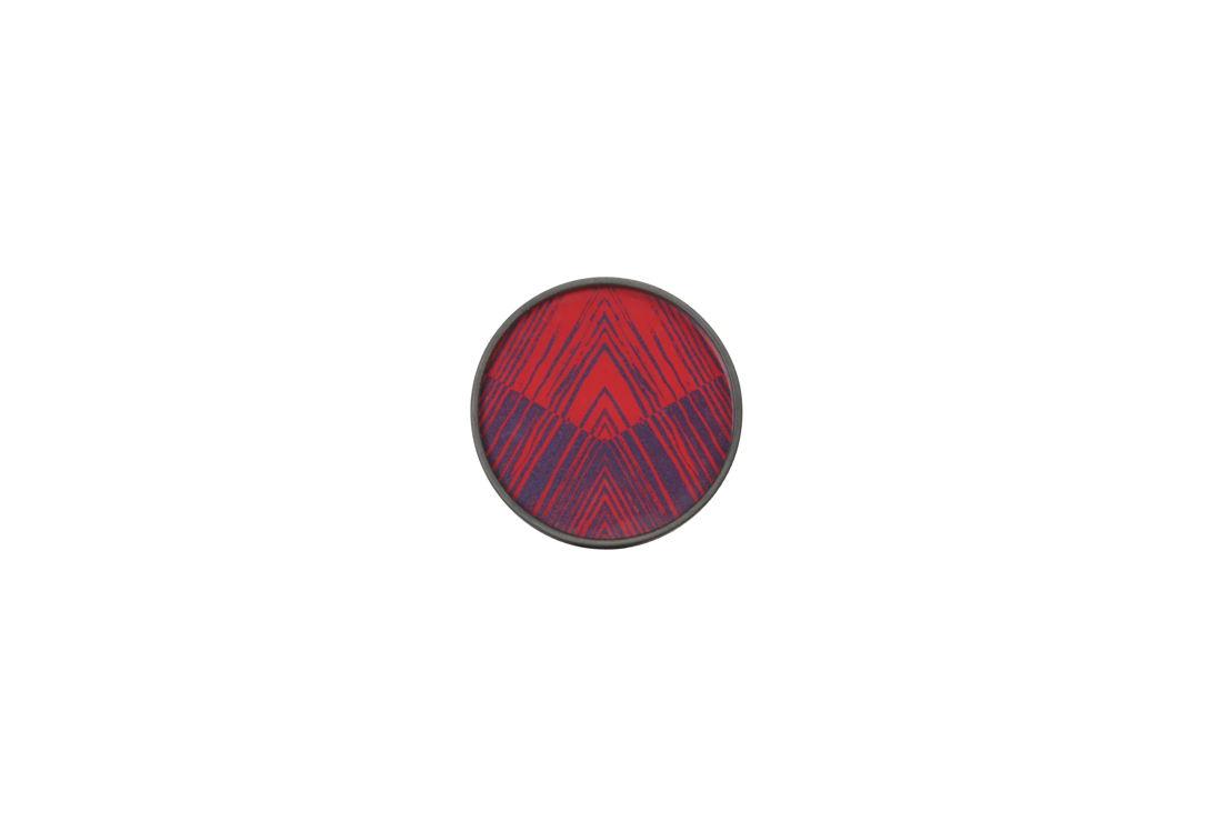 Midnight Linear Circles mini glass tray-wooden rim