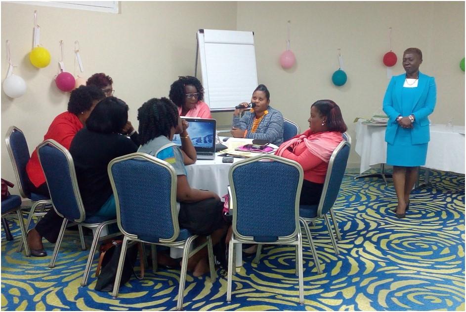 Team Saint Kitts and Nevis presenting.