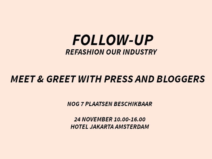 FOLLOW-UP INVITE - REFASHION OUR INDUSTRY