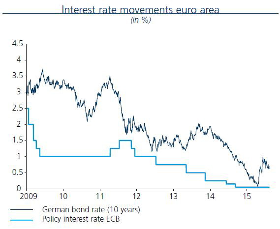 Interest rate movements euro area