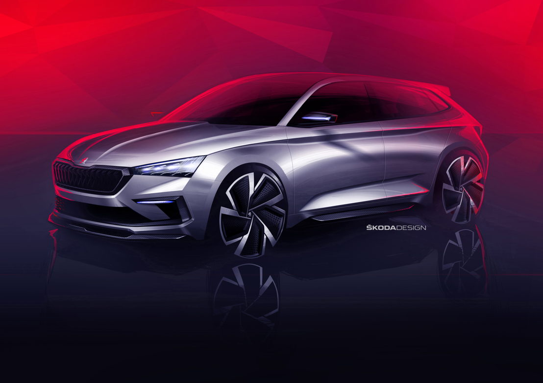 The ŠKODA VISION RS concept study demonstrates how ŠKODA envisages future sporty RS models and also a future compact vehicle.