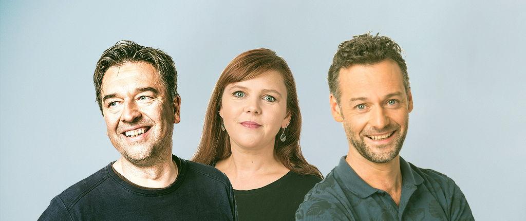 Michaël Robberechts, Ayco Duyster en Wouter Mattelin © Radio 1