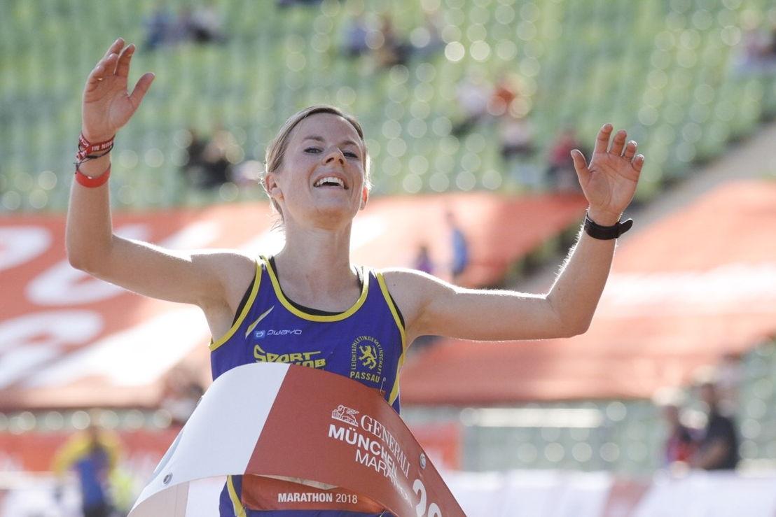 Susanne Schreindl, Siegerin des GENERALI MÜNCHEN MARATHON 2018 (2:49:38)