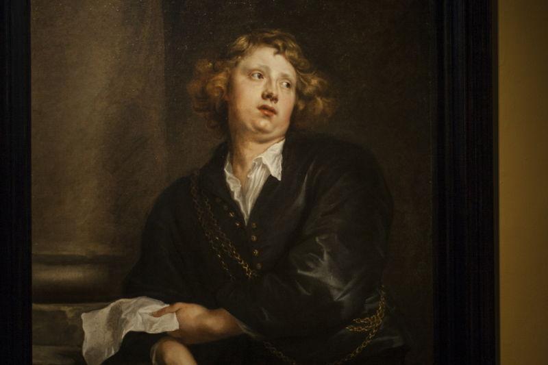 Anthony van Dyck, portret van Hendrik Liberti (detail 2), particiliere verzameling Groot Hertogdom Luxemburg, foto Ans Brys