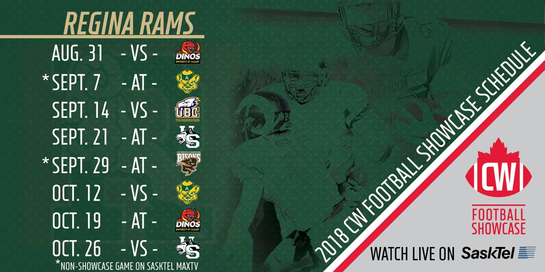 2018 Regina Rams CW Football Showcase schedule