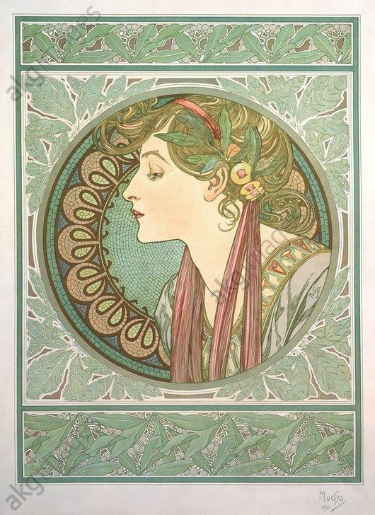 """Laurel"", 1901. Companion piece to ""Ivy""<br/>AKG1006703"