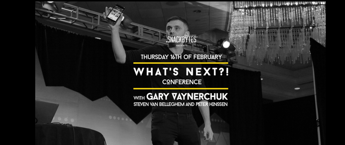 Start it @kbc biedt start-ups exclusief vragenuurtje met Amerikaans internetfenomeen Gary Vaynerchuk