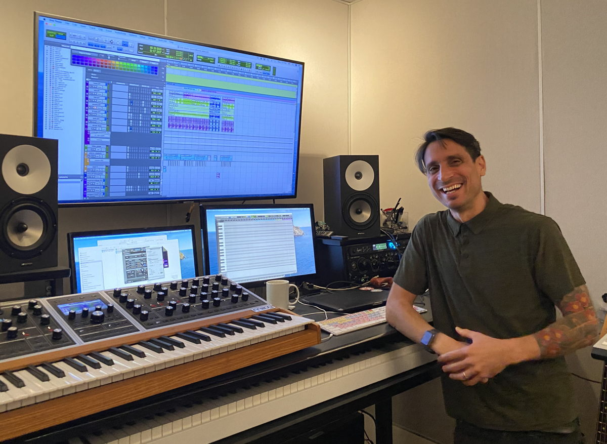Luis Guerra in his private studio in Los Angeles, CA
