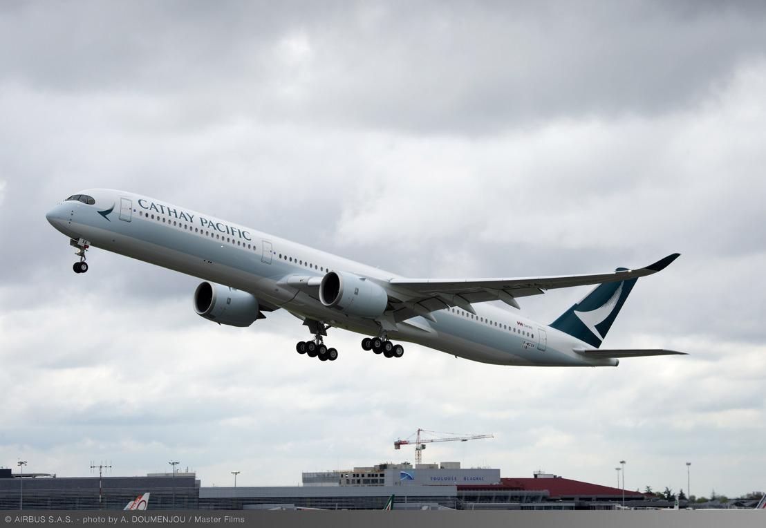 國泰航空A350-1000客機完成首次試飛