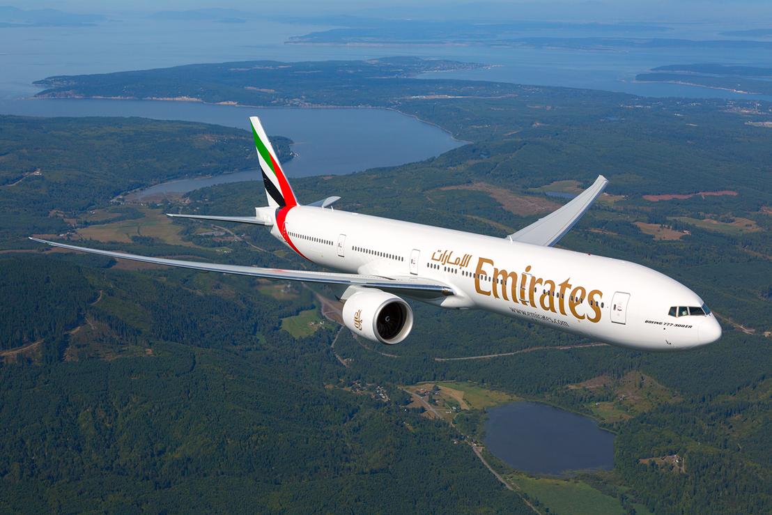 An Emirates Boeing 777 300ER