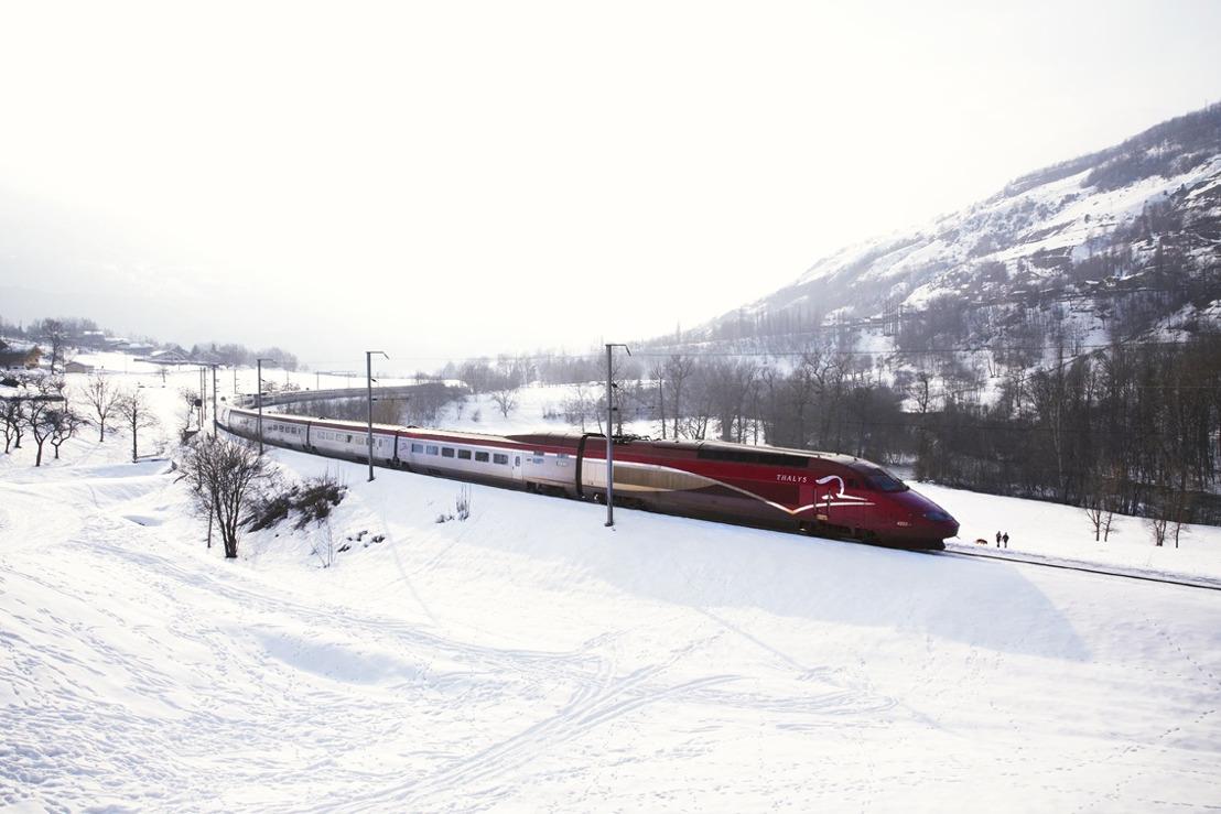 Met Thalys is de sneeuw binnen handbereik