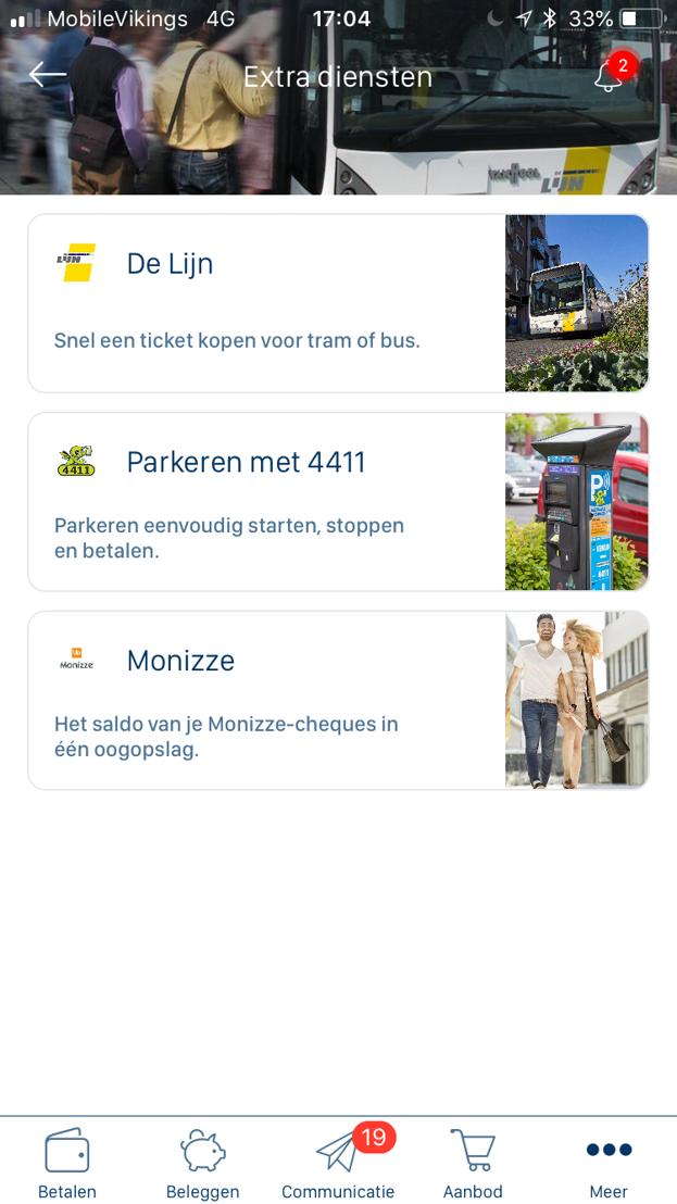Het m-ticket van De Lijn is nu ook te koop via KBC Mobile.