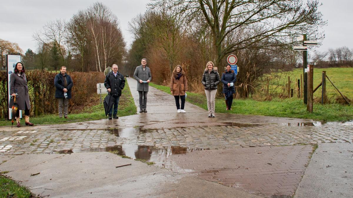 Foto: Projectpartners aan de Ijzerenweg in Zoutleeuw