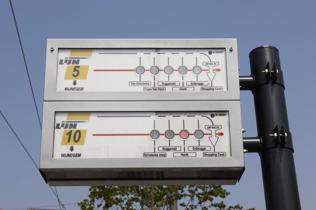 Het Antwerpse Infotramsysteem wordt geleidelijk aan vervangen door realtime info.
