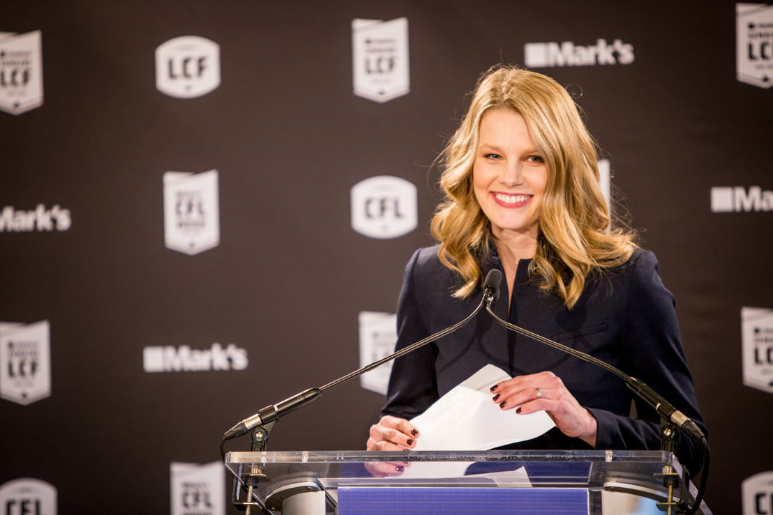 TSN's Sara Orlesky, who hosted the event. Photo credit: Reid Valmestad/CFL