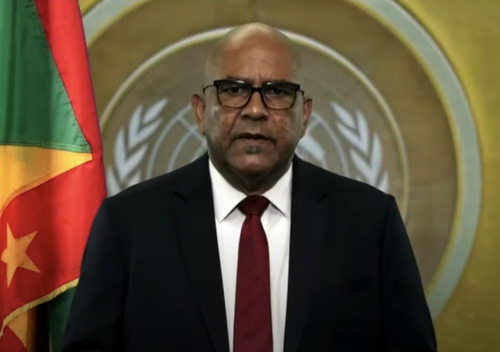 Minister For Foreign Affairs and Labour of Grenada, Hon. Peter David, addresses the general debate of the 75th Session of the General Assembly of the UN