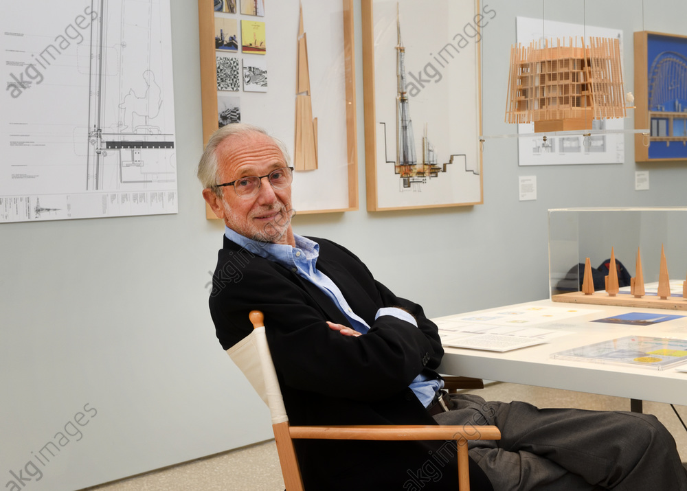 Italian architect Renzo Piano at the Royal Academy of Arts in London, UK, at the opening of an exhibition of his work in September 2018.<br/>AKG5886584