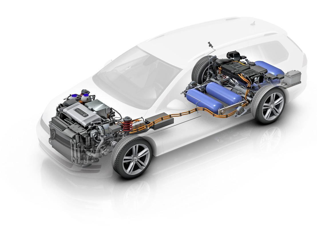 Golf Variant HyMotion met waterstof-brandstofcel