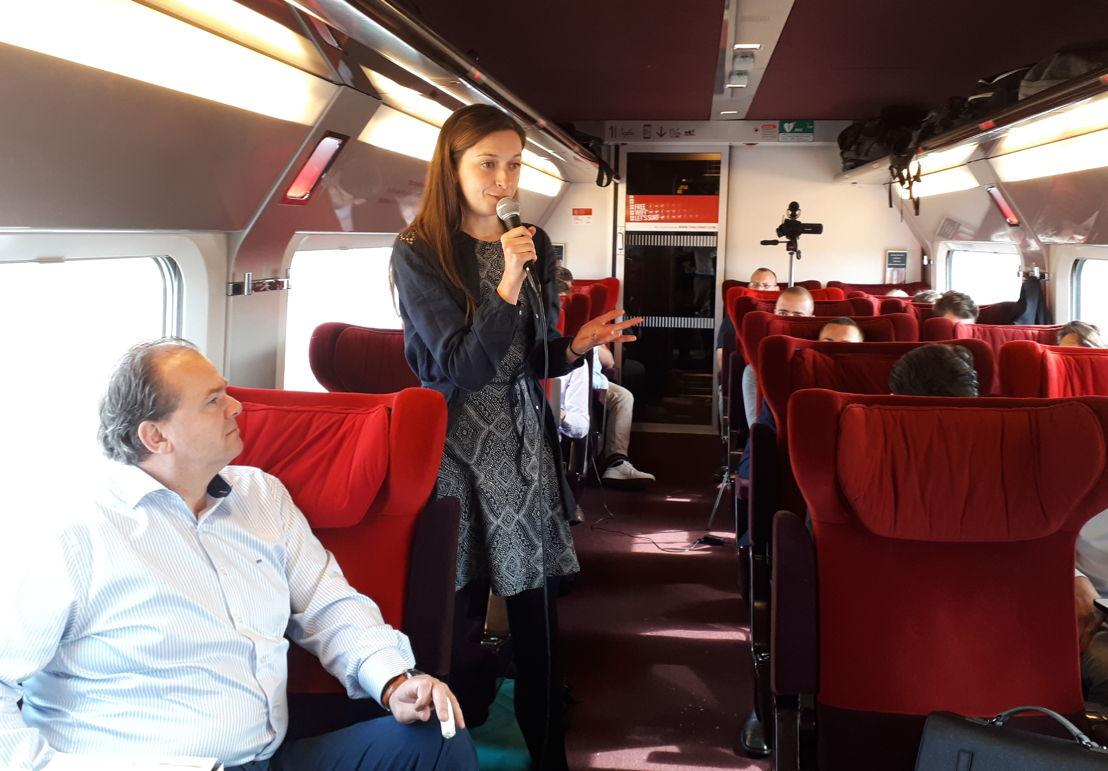 Pitch de 3D Click à bord du Thalys à destination de Paris.