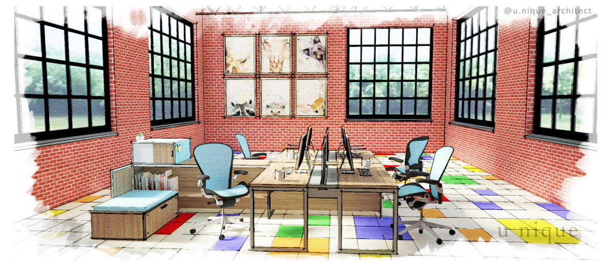 Rendering of Kidco Work at Kids & Company Queen Street West in Toronto