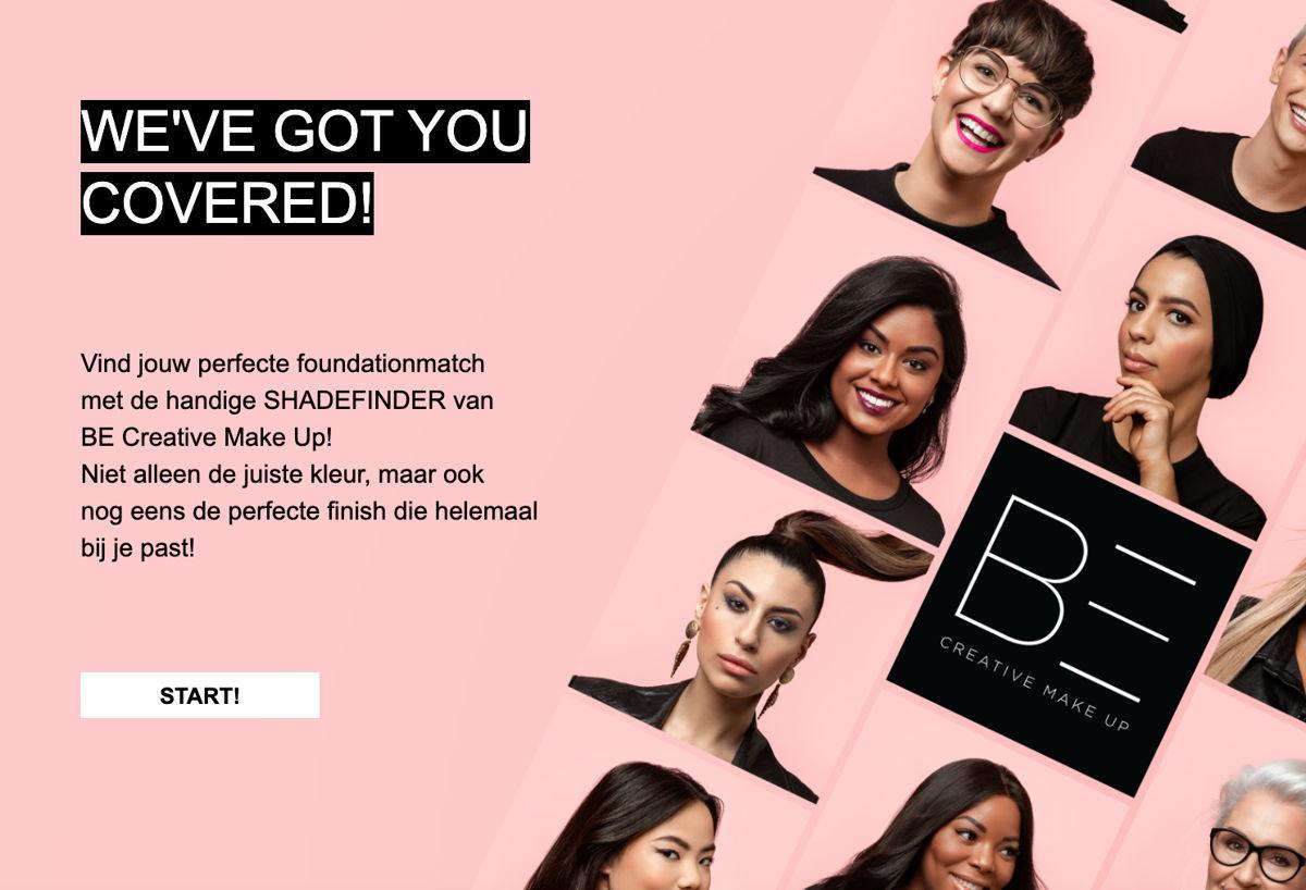 De BE Creative Make Up Online Shadefinder komt online in loop met de lancering, begin oktober