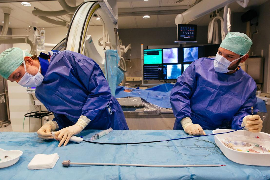 De pacemaker met katheter/ Copyright UZ Leuven Wim Feyaerts