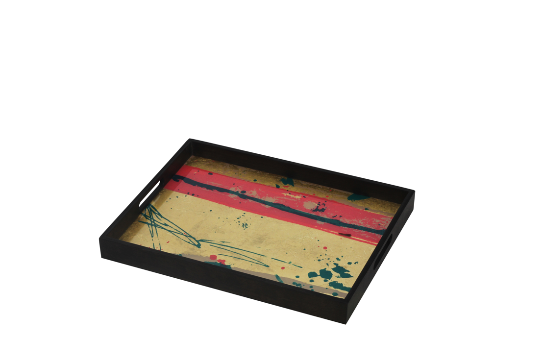Abstract Study glass tray - RE-S