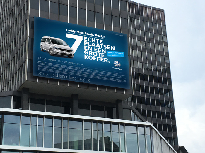 Preview: Volkswagen en DDB laten u de immense ruimte ontdekken van de Caddy Maxi Family Edition.
