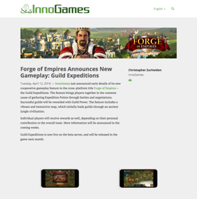Forge of Empires Announces New Gameplay: Guild Expeditions