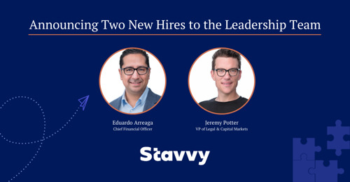 Stavvy Appoints New Chief Finance Officer and Vice President of Legal and Capital Markets to Continue Aggressive Growth