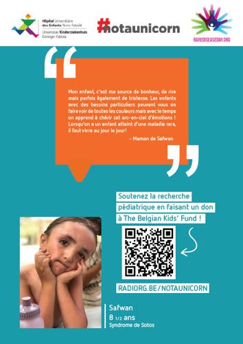 L'Hôpital des Enfants et The Belgian Kids' Fund for Pediatric Research récoltent des fonds pour la recherche sur les maladies rares