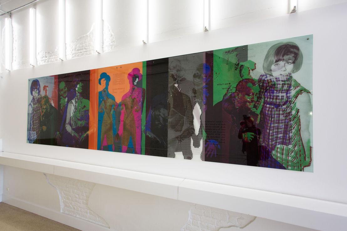 """Expo: """"The Future = Beurssc50uwburg"""", werk van Anne-Mie Van Kerckhoven - foto: Bram Tack"""