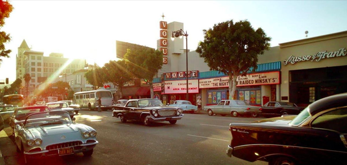Vogue Theatre ambientado para 'Once Upon a Time in Hollywood' | Crédito: Phil Grishayev