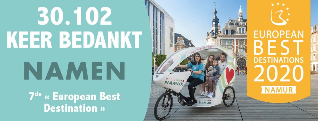 "Namen eindigt als 7e bij ""European Best Destinations 2020"""