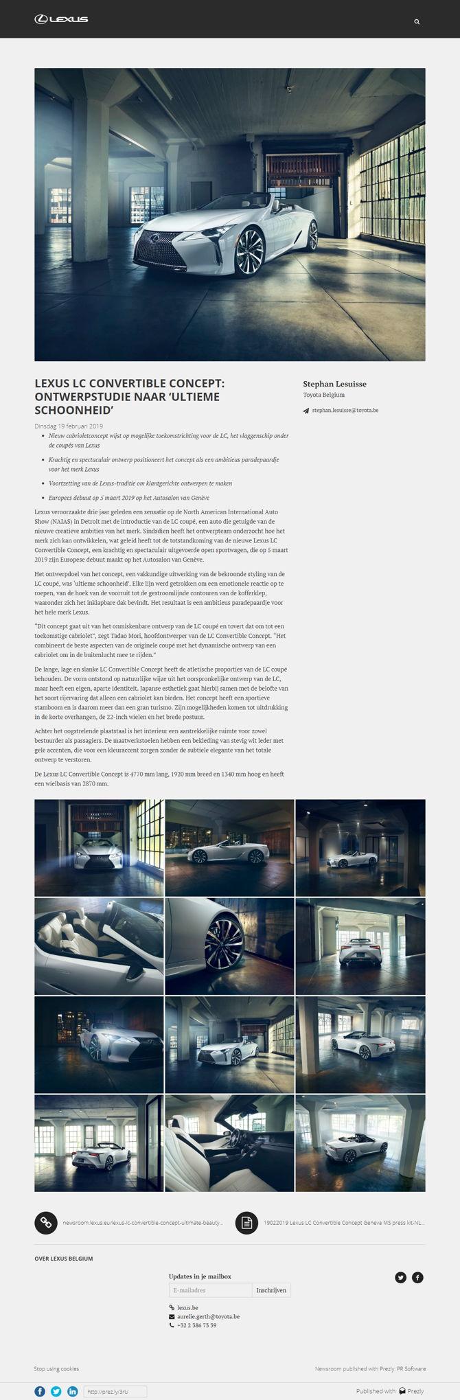 LEXUS LC CONVERTIBLE CONCEPT: ONTWERPSTUDIE NAAR 'ULTIEME SCHOONHEID'
