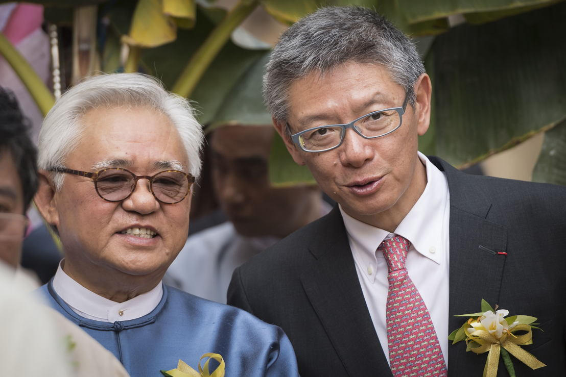 Serge Pun, presidente ejecutivo de Yoma Strategic y FMI y Clement K.M. Kwok, director general y CEO de The Hong Kong and Shanghai Hotels Limited
