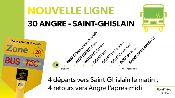 Preview: NOUVELLE LIGNE 30 ANGRE – SAINT-GHISLAIN