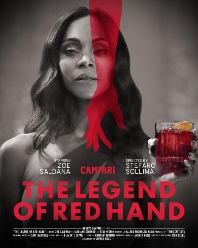 Zoe Saldana schittert in 'The Legend of Red Hand', de Campari-kortfilm geregisseerd door Stefano Sollima