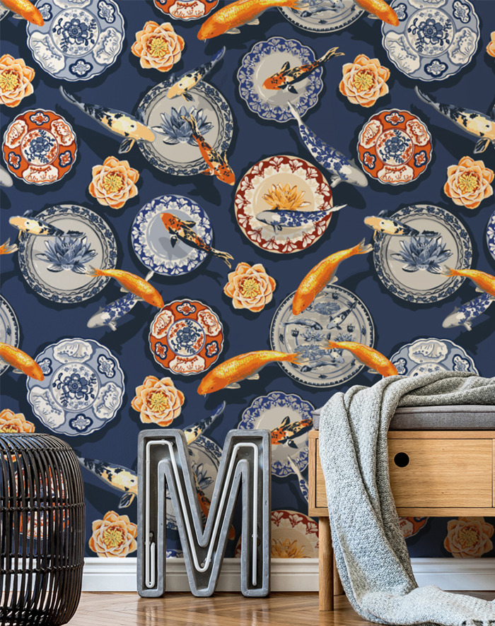 Preview: Orient-Inspired Wall Murals by Competition Winner - Julia Fonnereau
