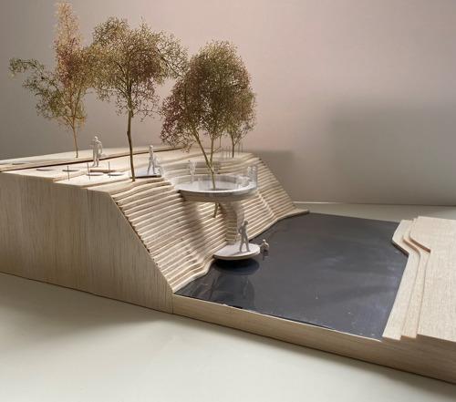 Drie nieuwe Zenneterrassen voor landschapspark in Halle