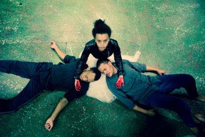 Carla Classen,Cassius Davids and <br/>MacMillan Mabaleka in Blood Wedding credit Livio Mercurio
