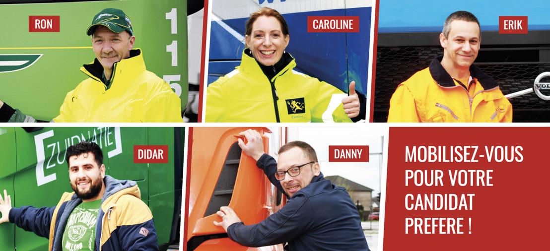 Love2Truck : 5 finalistes en dernière ligne droite pour le titre de chauffeur de camion le plus passionné de Belgique