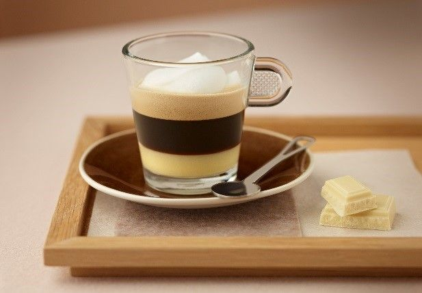 Espresso met witte chocolade