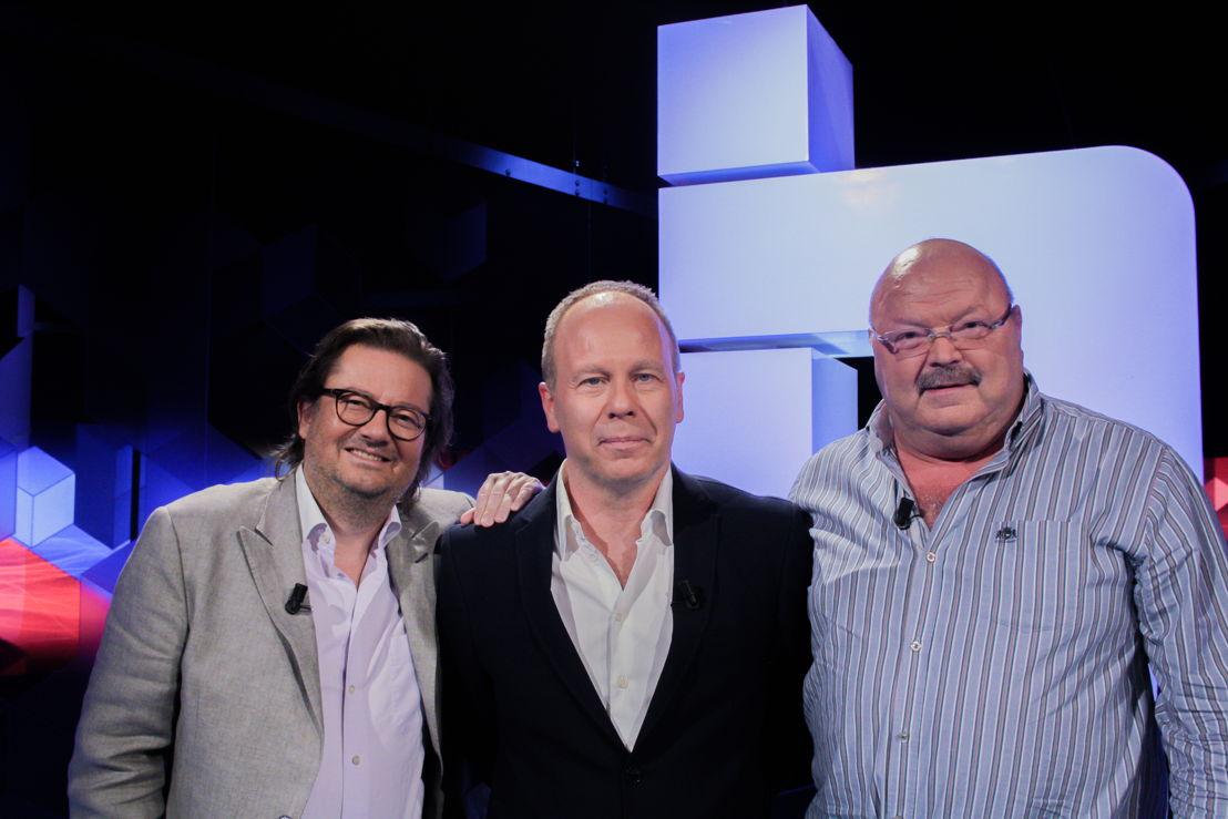 Michel Van den Brande en Marc Coucke op vrijdag 10 juni in Blokken (c) VRT