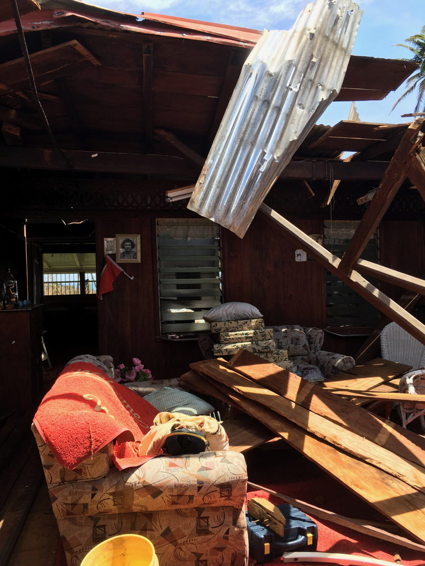 damaged house after the passage of hurricane Maria in Dominica