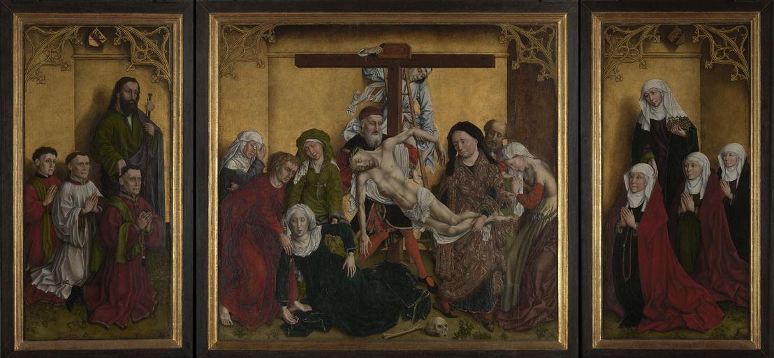Triptyque Edelheere (Triptyque de la Descente de Croix avec donateurs), navolger van Rogier van der Weyden, c. 1443 © Lukas - Art in Flanders, foto Dominique Provost