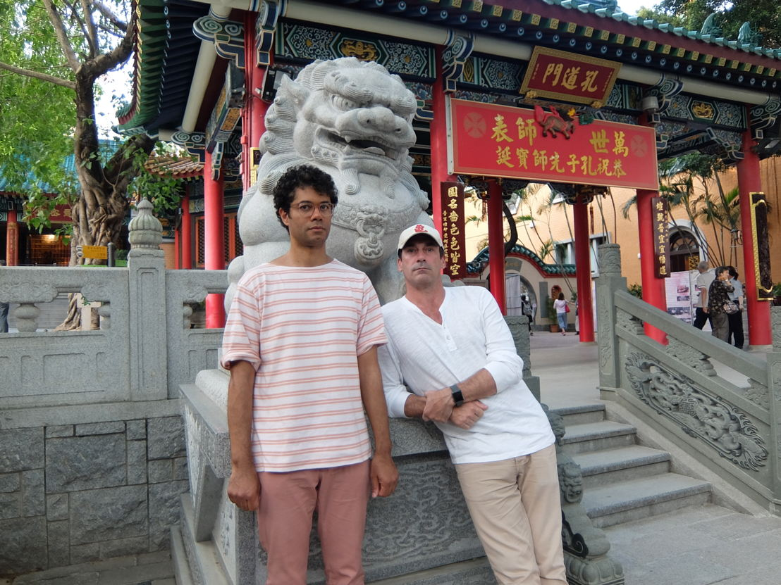 A snapshot of Richard Ayoade and Jon Hamm's 48-hour trip in Hong Kong. Photo courtesy of North One Television and Channel 4.
